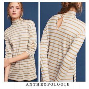 Anthropologie Vanessa Virginia Metallic Stripe Top
